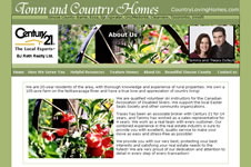 Screenshot of Country Loving Homes Site