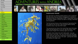 Screenshot of Adventures with Andrea Site