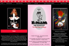 Screenshot of Madeleine The Magician Site